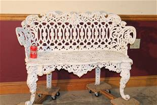 Cast Iron Bench with Lady Head Center