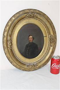 Early Painting on Panel of a Civil War Soldier