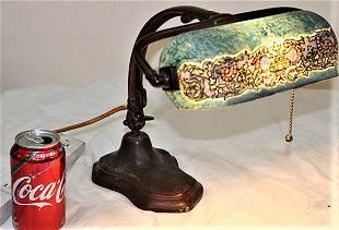 Great Artist Signed Handel Adjustable Desk Lamp