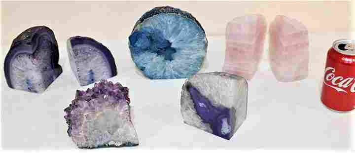 Collection of Rocks and Geodes with Polished Surfaces