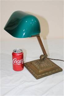 Signed Emerlite Double Knuckle Adjustable Desk Lamp