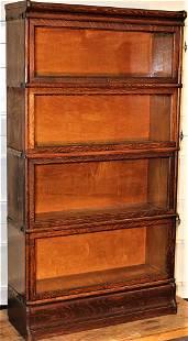Pristine 4 Section Oak Bookcase