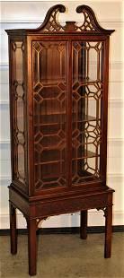 Custom 2 Door Mahogany Curio Cabinet