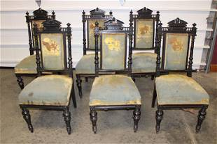 Set of 6 Victorian Aesthetic Chairs