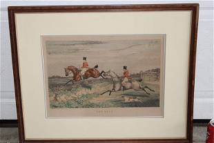 """Nice Colored Engraving by J. Fuller """"The Leap"""""""