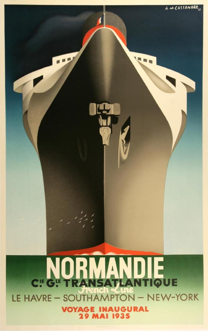 NORMANDIE - DISTIL RESTRIKE POSTER BY CASSANDRE