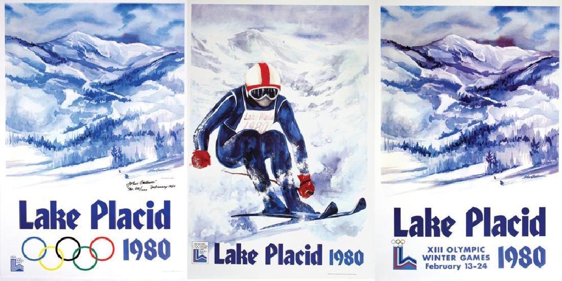 SET OF THREE: LAKE PLACID 1980 OLYMPICS BY JOHN