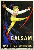 BALSAM APERITIF SKIER  BY JEAN DYLEN ORIGINAL VINTAGE