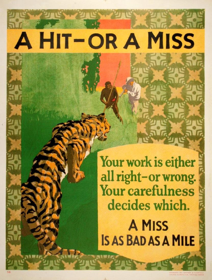 A HIT OR MISS - A MISS IS AS BAD AS A MILE BY WILLARD