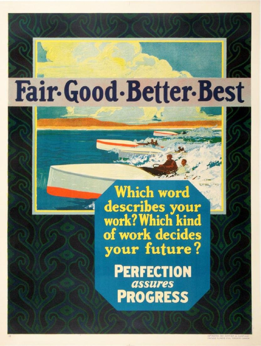 FAIR GOOD BETTER BEST ORIGINAL VINTAGE POSTER