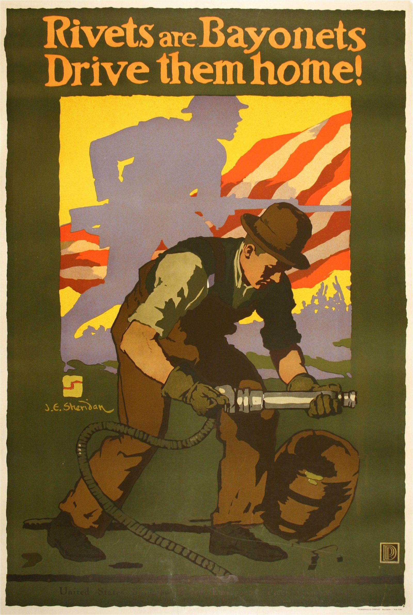 Rivets are Bayonets - Drive Them Home Original Vintage