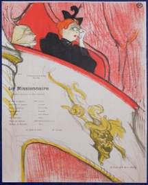 Toulouse-Lautrec : Loge au Mascaron Doré, 1894.
