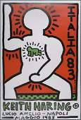 Keith Haring : Italia 83, Org Screen print 1983
