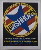 Robert Indiana Hirshhorn hand signed screen print 1974