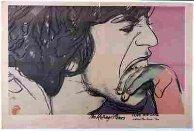 """The Rolling Stones """"Love You Live"""" Warhol original"""