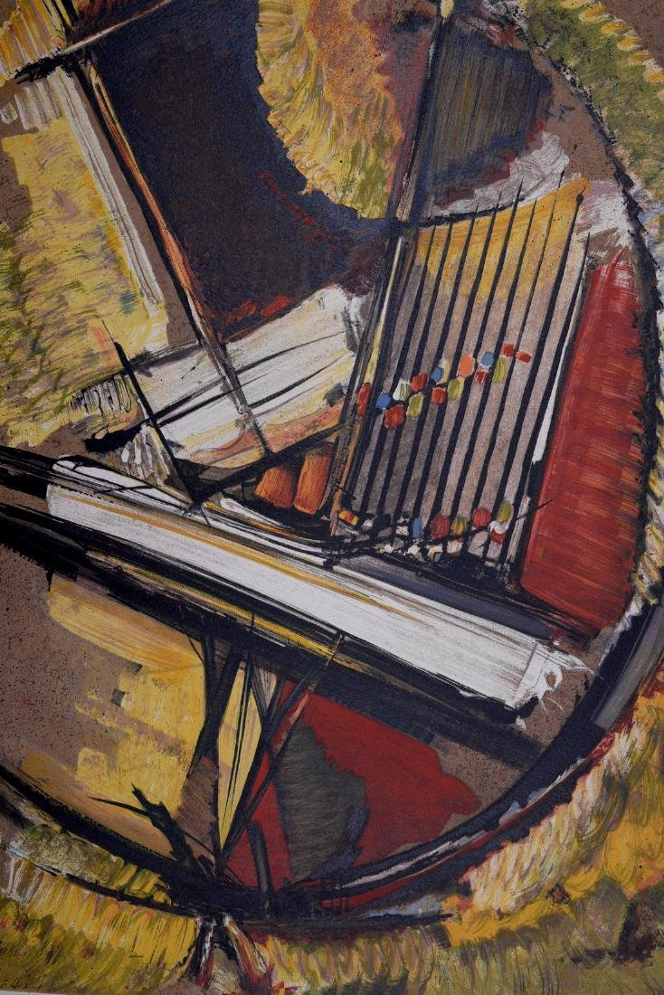 Roger Lersy Abstract composition 1954 Lithograph signed - 4