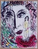 Marc Chagall circus Apparition 1963 original lithograph