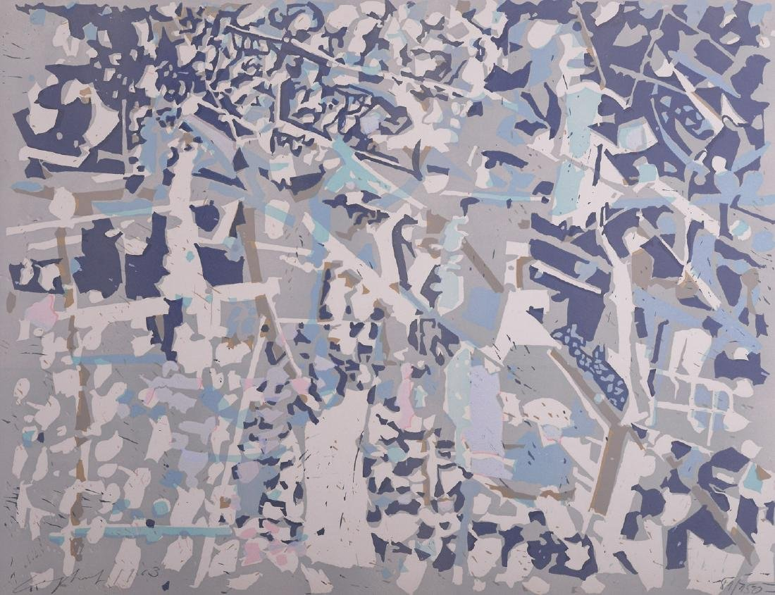 Ernst Coghuf  Abstract composition Litho 1963 - 2