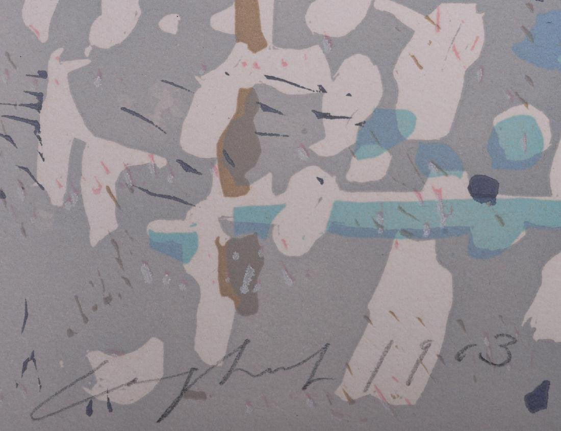 Ernst Coghuf  Abstract composition Litho 1963 - 4