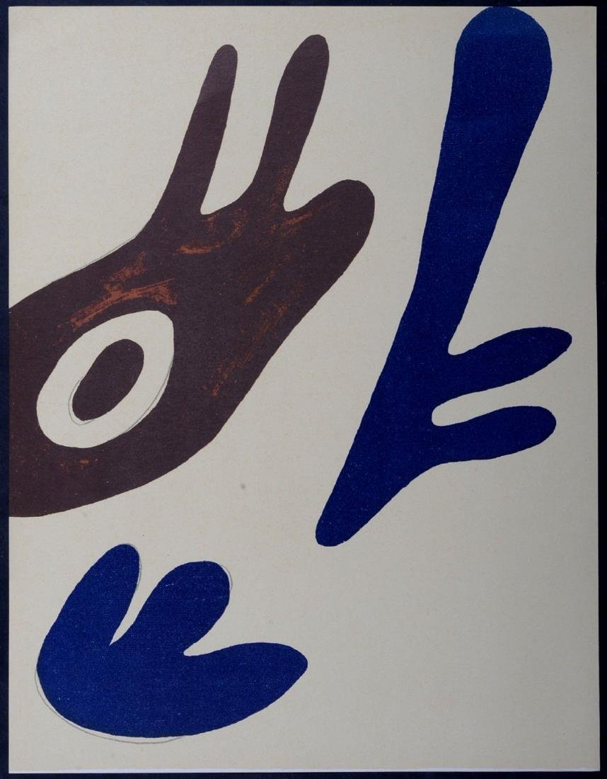 Hans Arp Original lithograph 1962 abstract composition