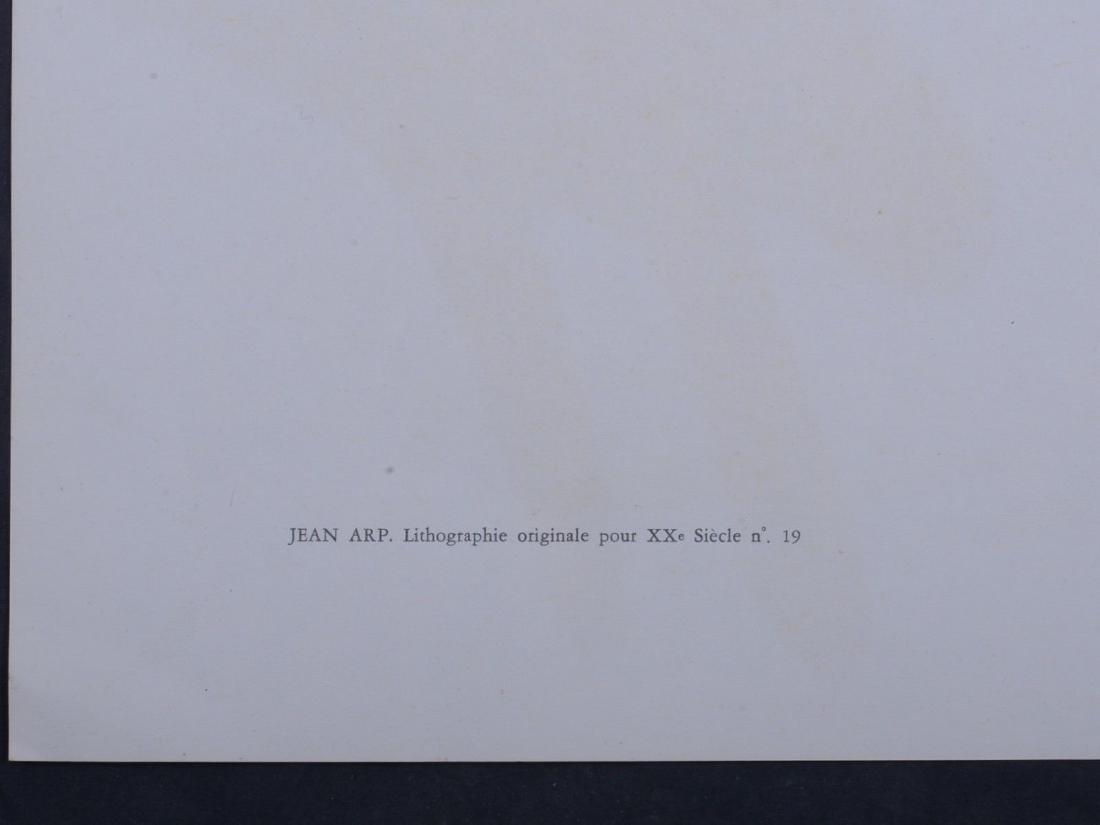 Hans Arp Original lithograph 1962 abstract composition - 2