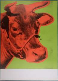 Andy Warhol original screen-print 1970 COW