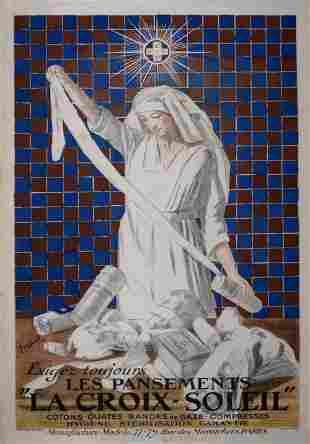 Cappiello Exigez les pansements Croix-Soleil,1919