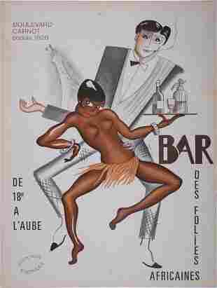 P. Colin like - Bar des Folies Africaines, c.1950