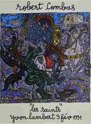 Robert Combas - Les Saints (Yvon Lambert), 1991