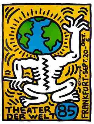Keith Haring - Theatre Der Welt, 1985