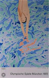 Hockney-The Diver, Olympische Spiele Munchen 1972