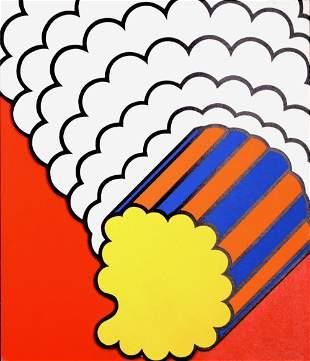 Krushenick White Smoke Red Sky, 1969 (Banner ed.)