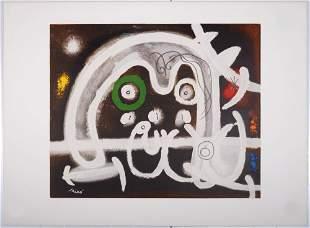Joan Miro (After) - Personnage et oiseau, 1969