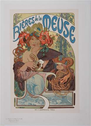 Alphonse Mucha - Bieres de la Meuse, 1897