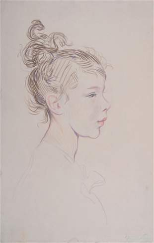 Hermann Paul - Profil de jeune fille, c. 1895