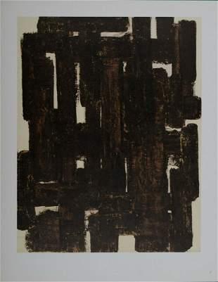 Pierre Soulages - Composition, 1952