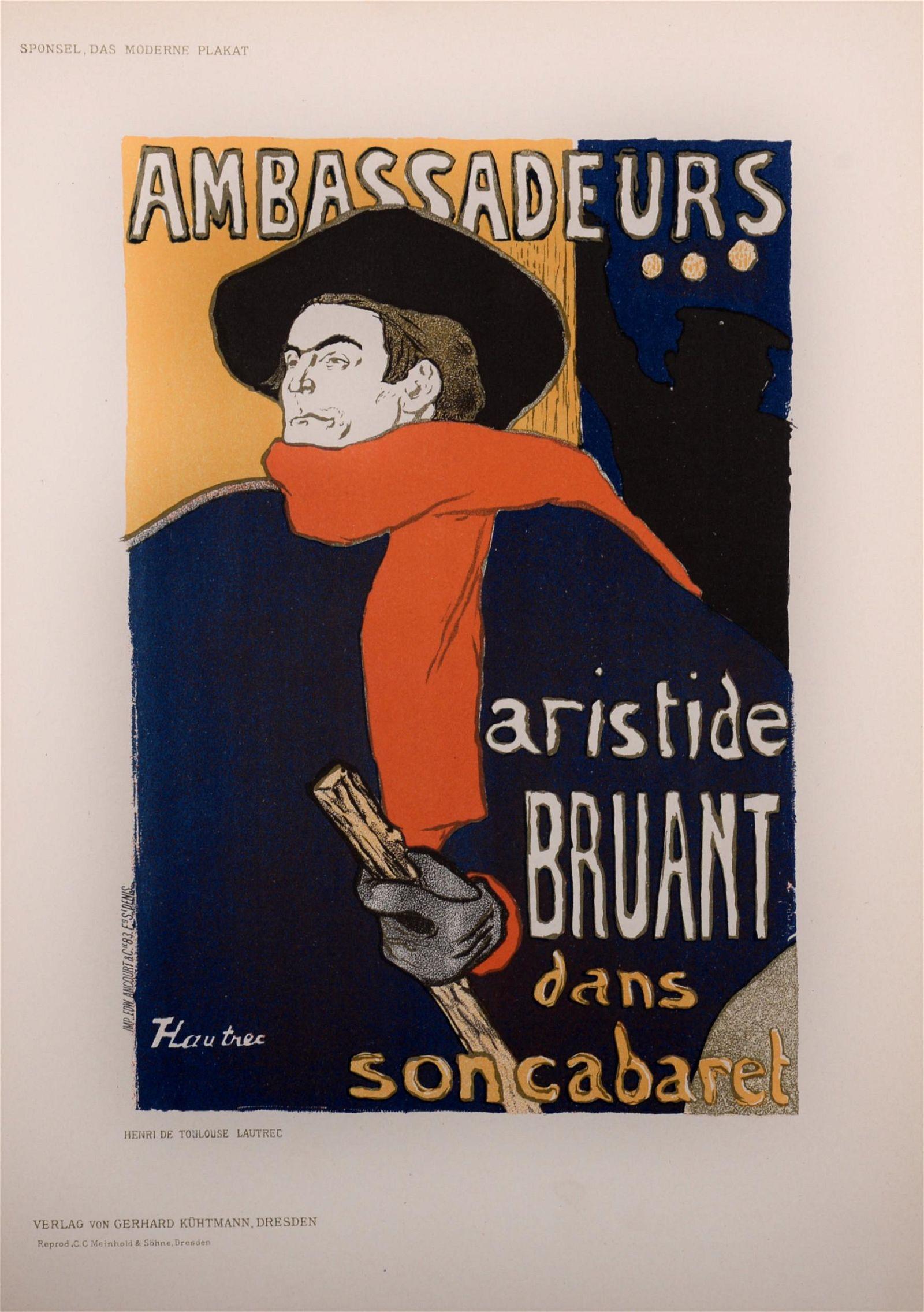 Henri de Toulouse-Lautrec - Aristide Bruant, 1897
