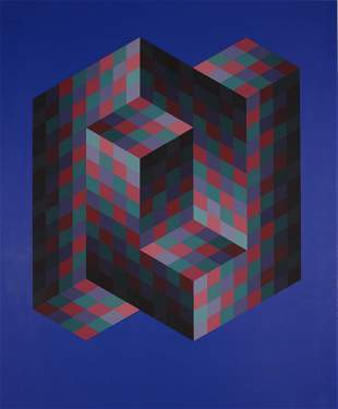 Victor Vasarely - Iz Zo (from Bach), 1971