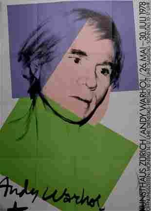Warhol -Kunsthaus Zurich Original silkscreen 1978