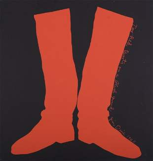 Jim Dine - Two Red Boots, 1968