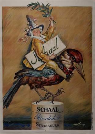 Abel Faivre - Chocolat Schaal, 1920 Scarce!