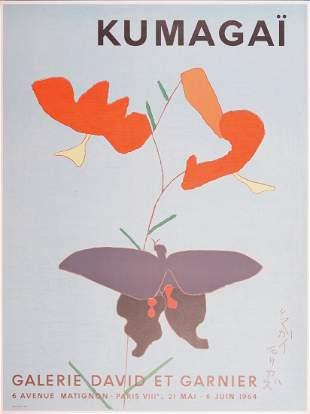 Morikazu Kumagai - Lily and butterfly, 1964