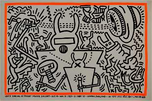Keith Haring - At Robert Fraser Gallery, 1983