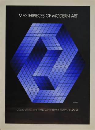 Vasarely - Masterpieces of Modern Art, 1969