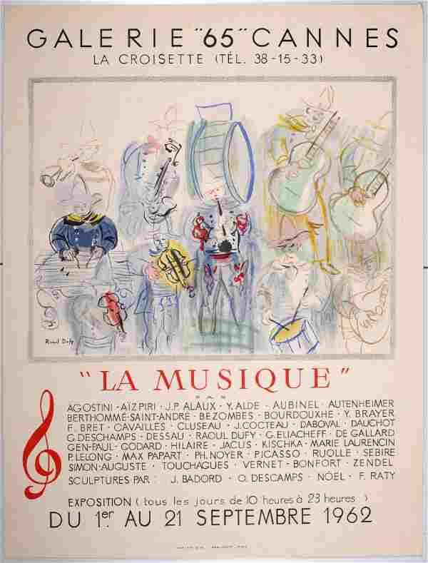 Raoul Dufy - Galerie 65, La Musique, 1962