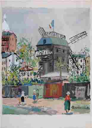 Maurice Utrillo - Le Moulin de la Galette, 1950