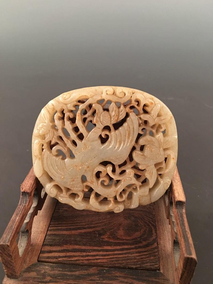 Chinese Liao Jin Jade Plaque