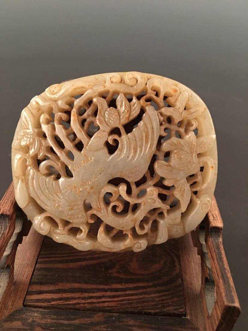 Chinese Liao Jin Jade Plaque - 4