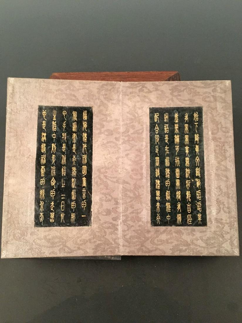 Chinese Jade Booklet With Qian Long Mark - 5