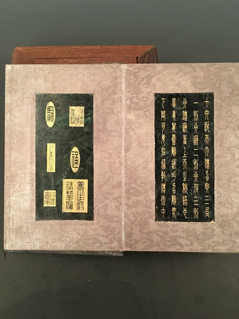 Chinese Jade Booklet With Qian Long Mark - 6